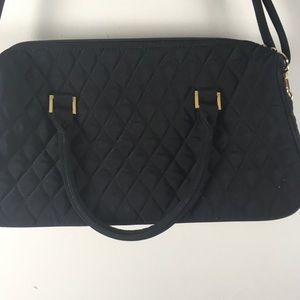 Vera Bradley Classic Black Quilted Handbag purse
